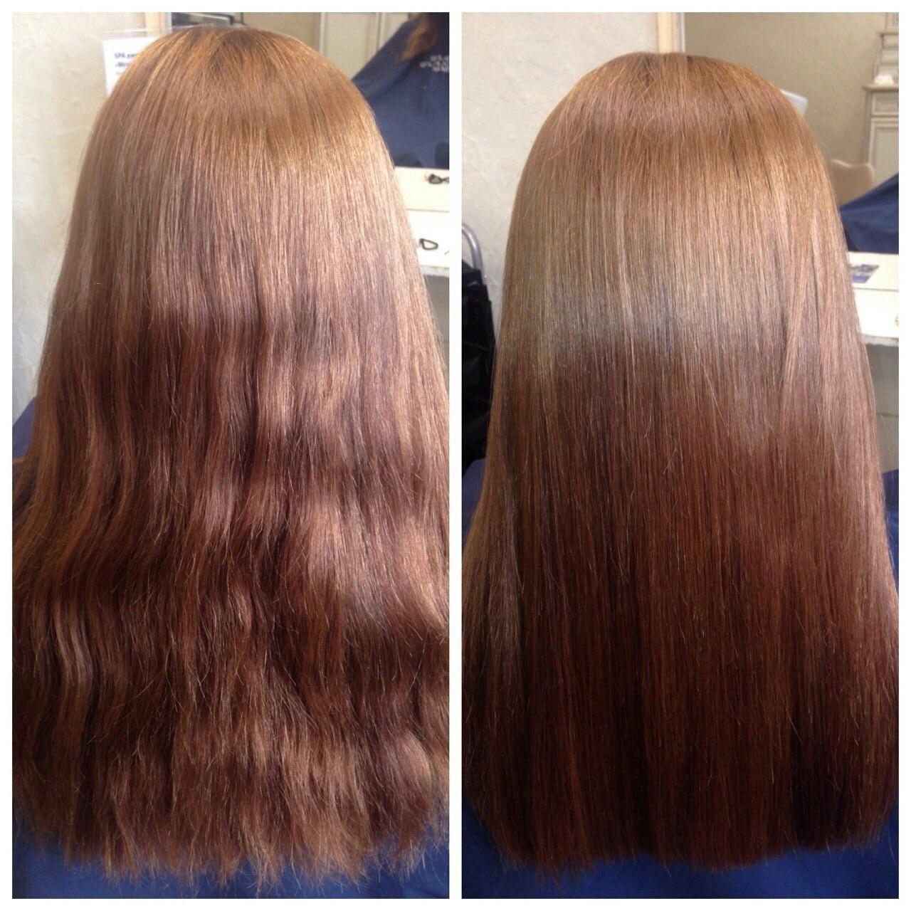 После полировки волосы