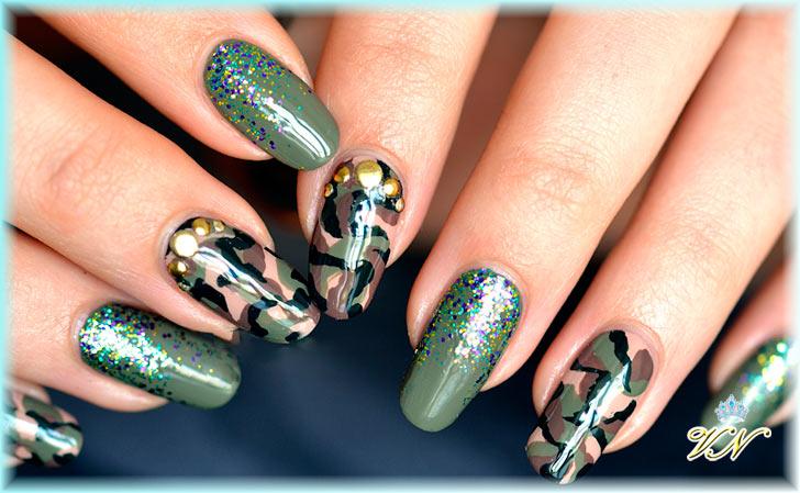 Ногти в стиле милитари